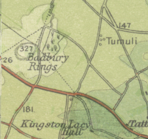 Map of Badbury Rings